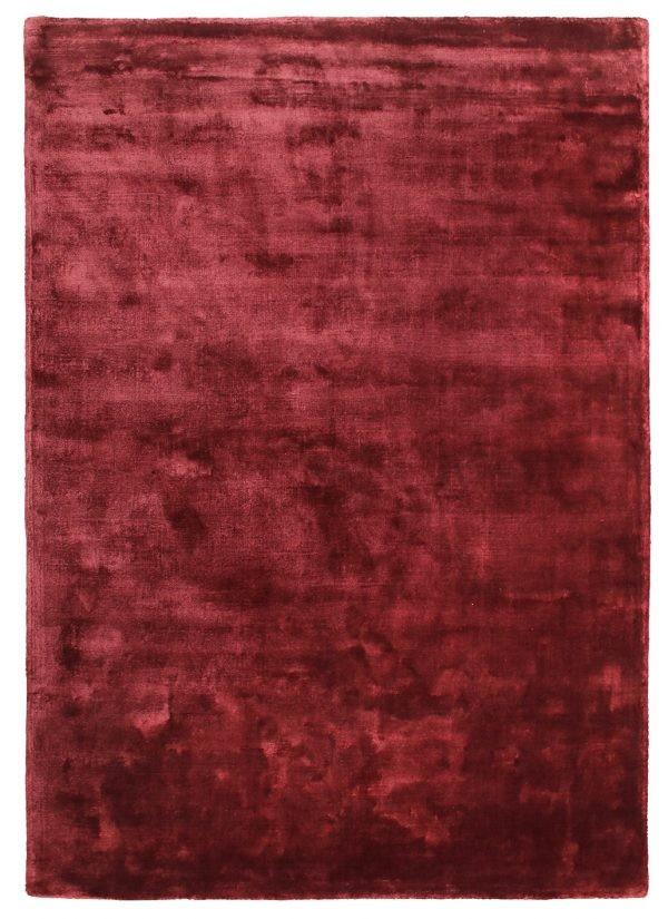 Tappeto moderno anallergico Cut Pile rosso