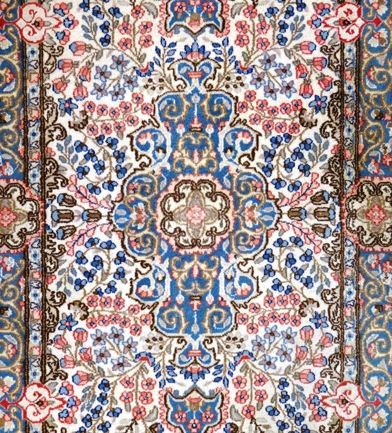 Tappeto kerman per soggiorno persiano floreale 230x143