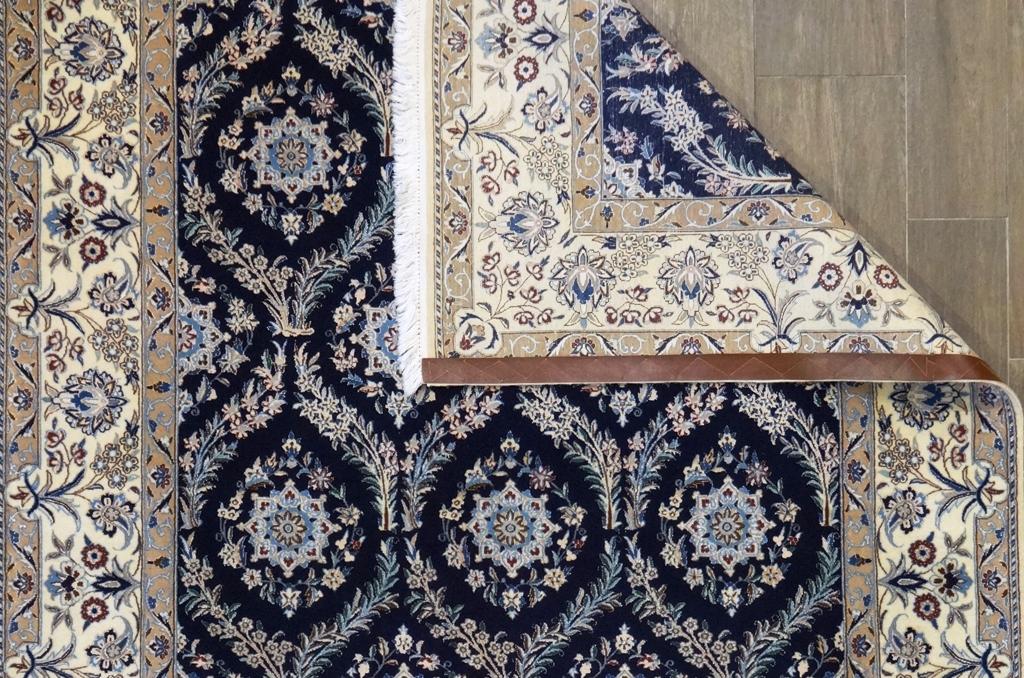Tappeto Nain 6 fili extra fine lana seta 220x153