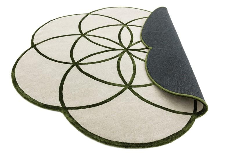 Tappeto lotus green rotondo cm200