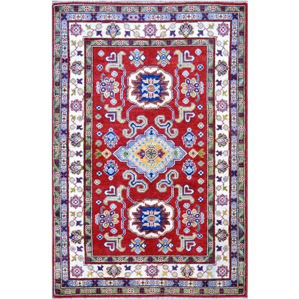 Tappeto ceceno ghazni Kazak geometrico