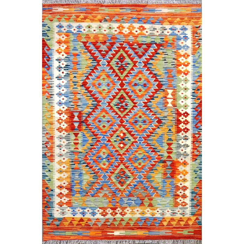 Tappeto kilim Maimano Pakistano.159x108