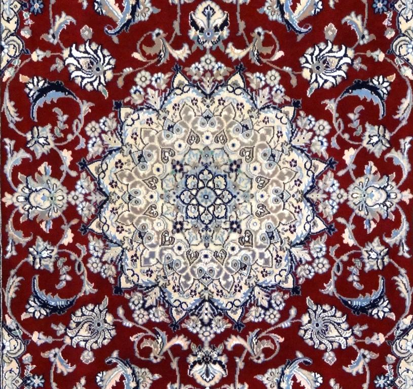 Tappeto nain Fine lana Seta 206x126