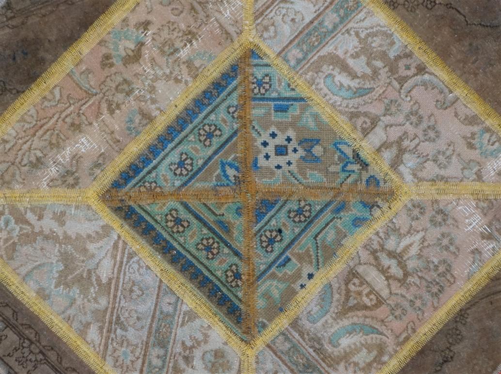 Tappeto moderno Rotondo Pachtwork 100x100