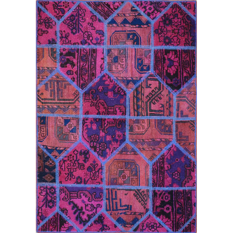 Tappeto moderno Patchwork persiano.