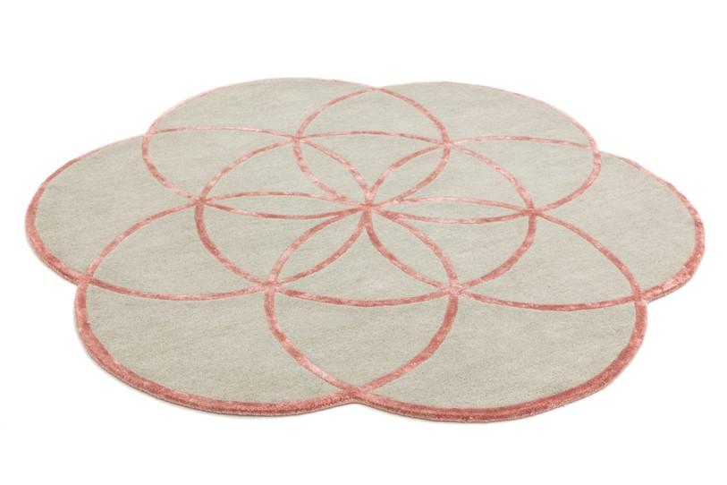 Tappeto lotus Pink rotondo cm200