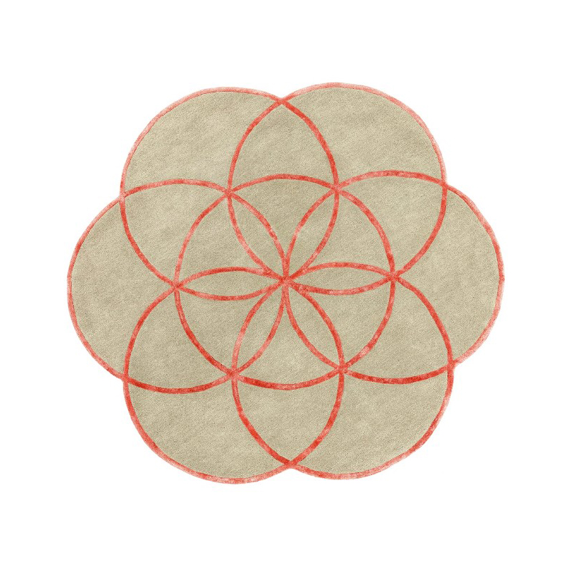 tappeto lotus Pink rotondo