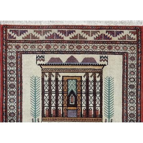 Tappeto Torkman figurato geometrico persiano 130x95