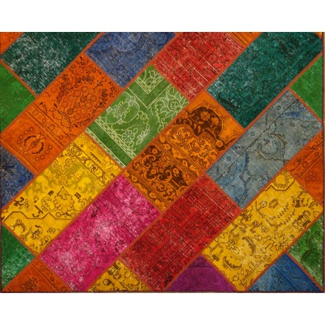 Tappeto Persiano Patchwork  moderno cm302x203