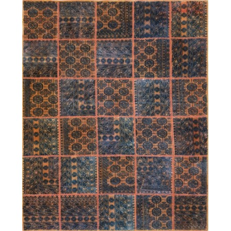 Tappeto moderno persiano pachtwork cm242x195
