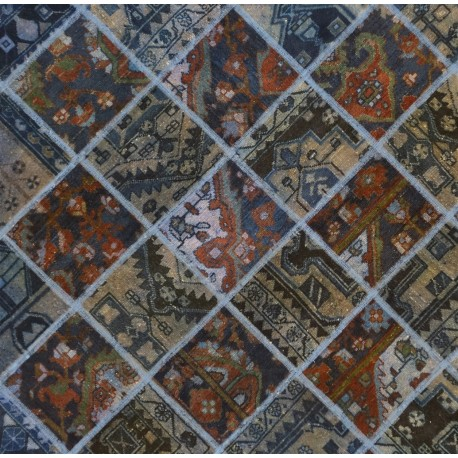 Tappeto blu patchwork cm244x180