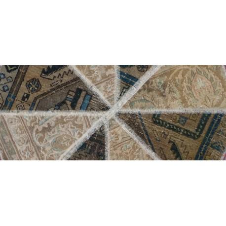 Tappeto Ottagonale Patchwork cm95x95
