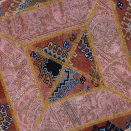Tappeto moderno persiano esagonale pachtwork cm95x95