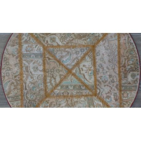 Tappeto moderno tondo Patchwork persiano