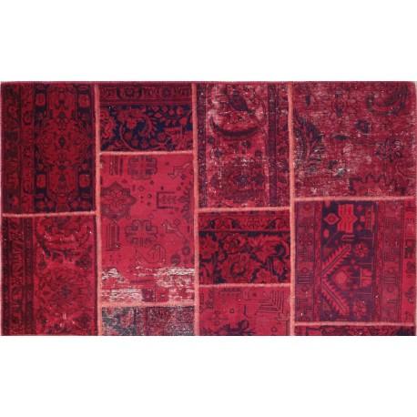 Tappeto Rosso Patchwork persiano cm240x168