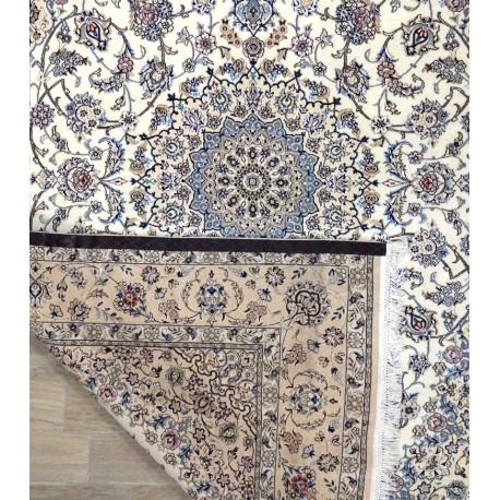 Tappeto nain 9la persiano lana-seta cm205x315