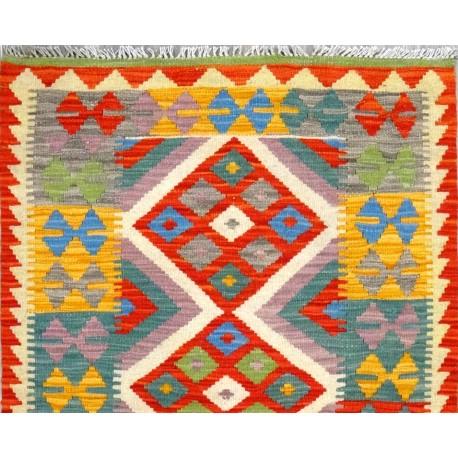 Tappeto kilim maimana giallo cm131x86