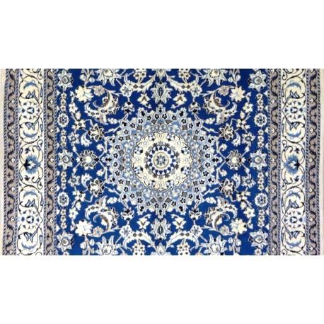 Tappeto Nain azzurro persiano cm295x192