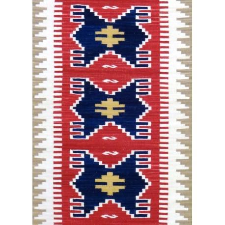 Tappeto kilim Rosso Blu cm240x70